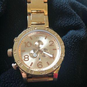 Nixon Men's The 51-30 Chrono Watch Gold